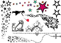 Hey, I found this really awesome Etsy listing at https://www.etsy.com/listing/83554633/stars-others-set-of-temporary-tattoos
