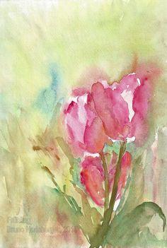 Frühling / Springtime / Primavera / Printemps / 春天 Watercolor Flowers, Paintings, Spring, Watercolour, Watercolors, Paint, Painting Art, Painting, Drawings