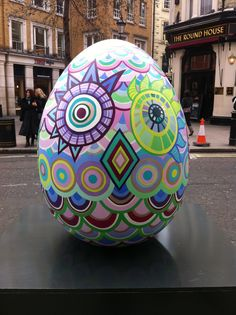 A great photo of one of the eggs from the Big Egg Hunt (we have made all the stands for the eggs! www.piggotts.co.uk)