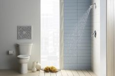 You've Got To See This: 30 Small Bathrooms That Are BIG In Style: Small Bathroom Ideas - Tear Down the Shower Walls Entirely