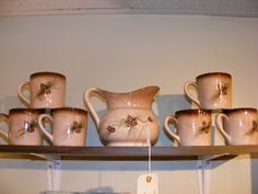Vintage Pinecone Tea/Coffee Set! Now at Retro!
