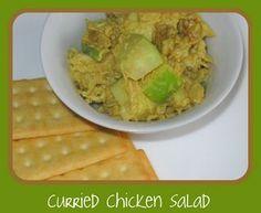 A Bite to Eat: Curry Chicken Salad= ginger, golden raisins, apples, onions, garlic,