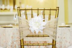 Champagne Wedding Chair Accents