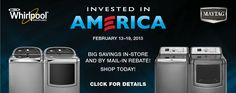 Invest in America! Come in today for a great deal on an American-made washer and dryer!