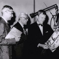 Just a reminder from the guys who gave you The Grinch . . . please don't be a Grinch this Christmas! Left to right: Dr. Seuss (the guy who thought him up), Boris Karloff (the guy who gave him a voice), and Chuck Jones (the guy who colored him green).