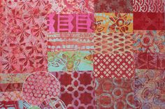 Assorted Handmade Papers using a Gelli Plate to use in Collages, Art Journals, Mixed Media Art, Scrapbooks, Smash Books, Cards,