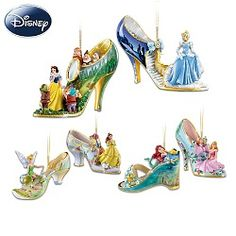 sculpted slipper ornaments with disney charactersdisney shoes and christmas - Shoe Christmas Ornaments