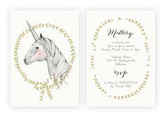 Licorne magique Invitation anniversaire par KelliMurrayArt sur Etsy