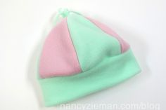 Easy fleece hats - free tutorial from Nancy Zieman.  Great for kids and charities!