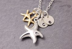 Mother Daughter Necklace  starfish necklace mother by MegusAttic