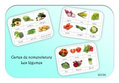 Cartes de nomenclature Montessori - Les légumes