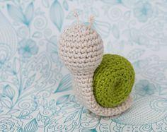 CROCHET PATTERN - Crochet Amigurumi Snail - PDF