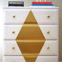 Give your old wooden dresser a glamorous makeover in a few simple steps.
