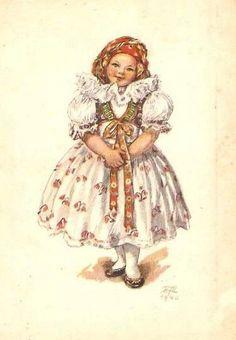 Antique Art, Vintage Antiques, Folk Costume, Costumes, Costume Ideas, Carl Larsson, Decoupage Paper, Beautiful Patterns, Czech Republic