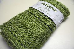 Free Pattern: Lacy Grass Green Scarf - follow 'About this Pattern' on right to link (scarves to throws).