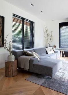 Living Room Sofa Design, Home Living Room, Living Room Designs, Blinds For Windows, Mid-century Modern, Room Decor, Interior, Furniture, Lounge Ideas