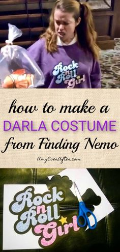 Do you need a quick costume? How about Darla from Finding Nemo? I'm going to tell you everything you need in order to dress up as Darla from Finding Nemo for Halloween! And if you're going to any kind of Disney-themed party (like where I wore this! Darla Costume Finding Nemo, Darla Finding Nemo, Disney Cosplay, Disney Costumes, Cool Costumes, Homemade Halloween Costumes, Halloween Diy, Halloween 2020, Disney Diy