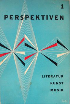 Graphic Design by Alvin Lustig, 1952-1953, Perspektiven 1.