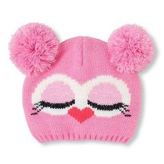33 Ideas crochet cat beanie pattern free knitting for 2019 Knitted Baby Clothes, Baby Hats Knitting, Crochet Baby Hats, Knitting For Kids, Baby Knitting Patterns, Baby Knits, Knitted Owl, Knitted Hats, Baby Girl Beanies