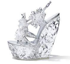 Casadei & Swarovski, Sparkling Constrasts - Anastasia shoes, sandali di ghiaccio