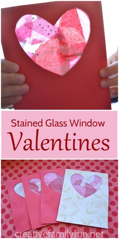 Stained Glass Window Valentines are such a fun (and pretty) Valentines craft for kids.