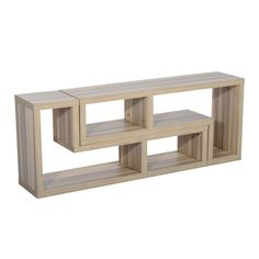 HomCom Dual Unit Contemporary TV Console Stand - Oak - January Take 10% off - Clearance