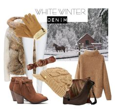 """""""White Denim Winter"""" by kashmier ❤ liked on Polyvore featuring Woolrich, Burberry, MICHAEL Michael Kors, Polo Ralph Lauren, UGG Australia, women's clothing, women's fashion, women, female and woman"""