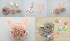 How To Make Simple & Cute DIY Pom Pom Bunny Crafts | DIY Tag