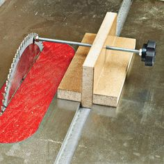 Tablesaw Alignment Block Woodworking Plan from WOOD Magazine: