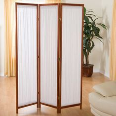 free standing privacy screen 3 room divider