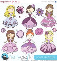 40% OFF SALE princess clipart commercial use, vector graphics, digital clip art, digital images - CL368