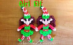 Rainbow Loom Girl ELF on a SINGLE Loom. Christmas doll (The old link was removed due to an error in the video. This is the NEW working link )