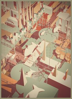 Amazing graphic illustrations by Atelier Olschinsky