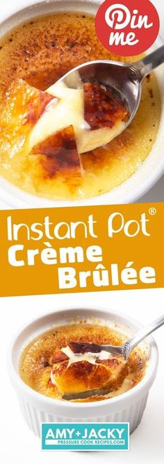 Pressure cooker recipes 547187423476865086 - Make Melt-in-your-Mouth Instant Pot Creme Brulee with 5 ingredients. Heavenly smooth, divinely tasting cream with crackable caramel. So dangerously good! Source by Pressure Cooker Desserts, Slow Cooker Recipes, Crockpot Recipes, Cooking Recipes, Pressure Cooking, Cooking Games, Cooking Classes, Soup Recipes, Lasagna