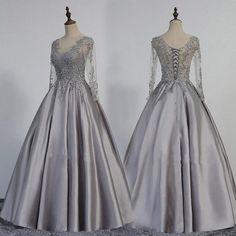 Prom Dress with Long Sleeves,Corset Prom Dress,Satin Prom Dress,Classy Prom Dress,prom dresses ball gown with sleeves,prom dresses long vintage,prom dresses long modest - Wishingdress