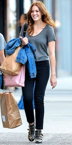 EDGY FLAT BOOTIES photo | Mandy Moore