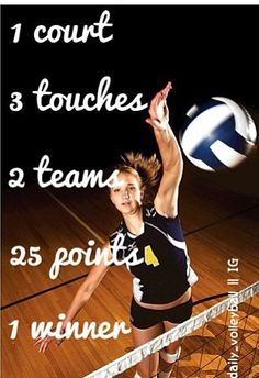 Volleyball You might like this for motivation for your team.