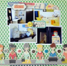 The Office: 12×12 Layout by Keri Babbitt. Using the LBD Kit Club June 2012 Kit Less Work More Play.