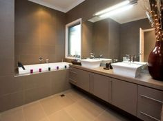 Classic bathroom design with corner