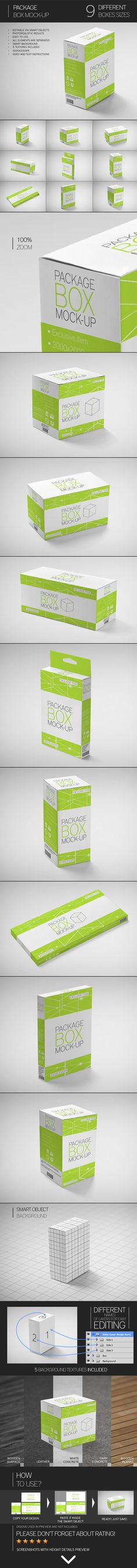 Package Box Mock-Up by Eugene Smith, via Behance