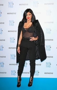 Kylie Jenner at the photocall for Nip+Fab in London, England