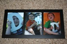 framed father's day gift from kids - Hey!   I have 3 kids....this might actually be doable and easy.