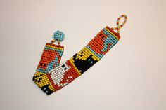 Cat Bead Loom Bracelet by TheVariousBears on Etsy