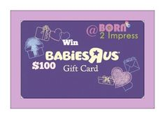 Last day to enter the $100 Gift Card to BabyRUS! #ContoursBaby