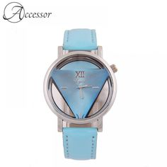Blue Triangle Hollow Watch  Price: 27.99 & FREE Shipping Triangle Design, Perfect Match, Free Delivery, Free Shipping, Watches, Retro, Blue, Accessories, Style