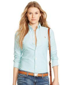 Custom-Fit Oxford Shirt - Polo Ralph Lauren Long-Sleeve - RalphLauren.com