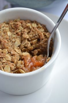 Maple oat plum crumble