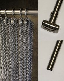 Decorative Curved Shower Rod with Swivel Flange - Brushed Nickel from the Cascade Coil online store