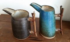 Fani Abe Higa, ceramic high temperature, jars with wooden handle