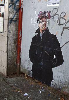 Breaking Bad street art.